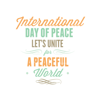 International Day Of Peace Typography 1 Vector Expanded Text 01 Clip Art - SVG & PNG vector