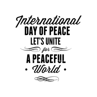 International Day Of Peace Typography 1 Vector Expanded Text 04 Clip Art - SVG & PNG vector
