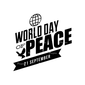 International Day Of Peace Typography 1 Vector Expanded Text 07 Clip Art - SVG & PNG vector