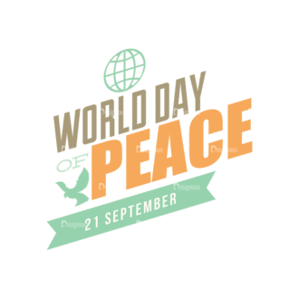 International Day Of Peace Typography 1 Vector Expanded Text 12 Clip Art - SVG & PNG vector