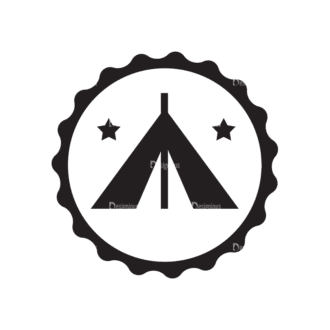 Metro Expedition Icons Set 1 Vector Tent 02 Clip Art - SVG & PNG vector