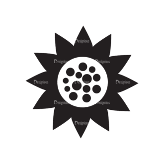 Metro Farming Icons 2 Vector Sunflower Clip Art - SVG & PNG vector
