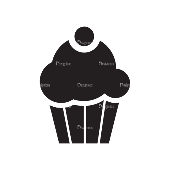 Metro Food Icons 1 Vector Cupcake Clip Art - SVG & PNG vector