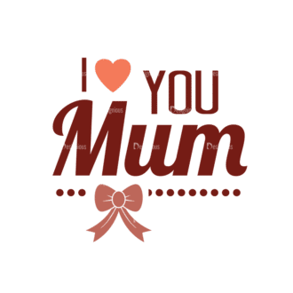 Mother'S Day Typographic Elements Vector Text 03 Clip Art - SVG & PNG vector
