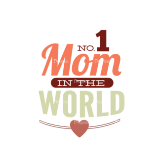 Mother'S Day Typographic Elements Vector Text 04 Clip Art - SVG & PNG vector