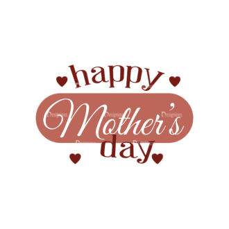 Mother'S Day Typographic Elements Vector Text 05 Clip Art - SVG & PNG vector