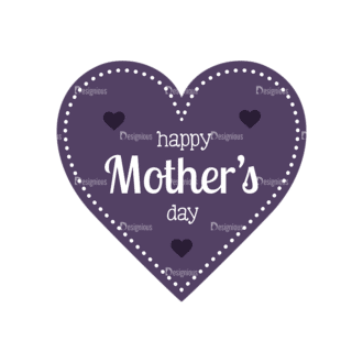 Mothers Day Vector Elements Vector Mothers Day 07 Clip Art - SVG & PNG vector