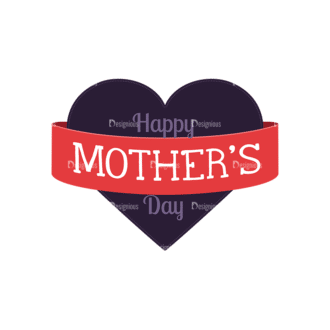 Mothers Day Vector Elements Vector Mothers Day 08 Clip Art - SVG & PNG vector