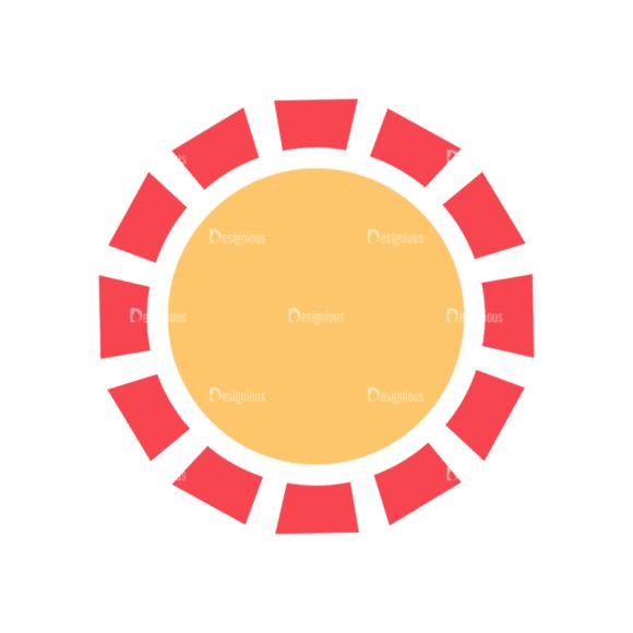 Nature Cute Icons Set 1 Vector Sun Clip Art - SVG & PNG vector