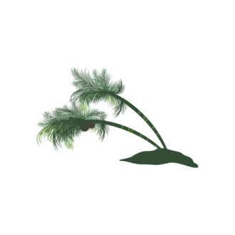 Palm Trees Vector 2 6 Clip Art - SVG & PNG palm