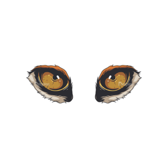 Predator Eyes Vector 1 1 Clip Art - SVG & PNG vector