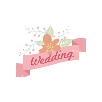 Romantic Labels And Ribbons Vector Set 2 Vector Label 01 Clip Art - SVG & PNG vector