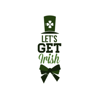 Saint Patrick'S Day Set 3 Vector Expanded Lets Get Irish Clip Art - SVG & PNG vector