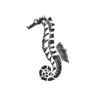 Sea Creatures Vector 1 25 Clip Art - SVG & PNG sea