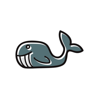 Sea Creatures Vector 6 Vector Whale Clip Art - SVG & PNG sea