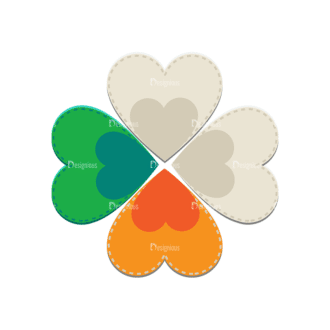 St Patrick'S Day Vector Elements Vector Clover Leaf Clip Art - SVG & PNG leaf
