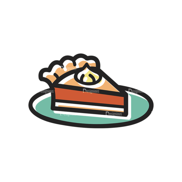 Thanksgiving Vector Set 13 Vector Cake Clip Art - SVG & PNG vector