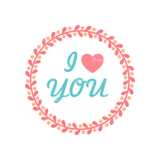 Valentine S Day Vector Set 5 Vector Iloveyou Clip Art - SVG & PNG vector