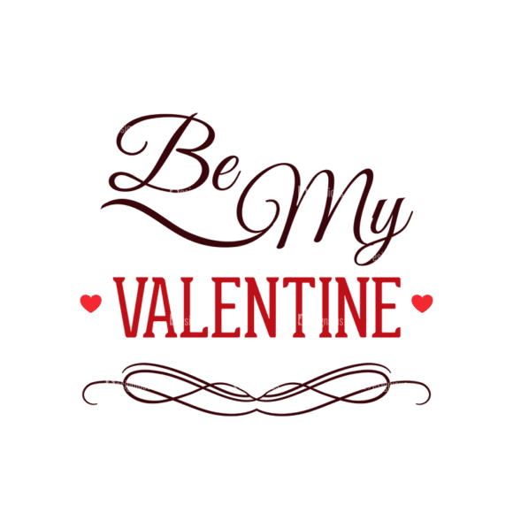Valentines Day Typographic Elements Vector Valentines 05 Clip Art - SVG & PNG vector