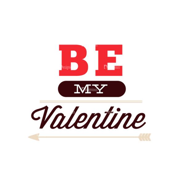 Valentines Day Typographic Elements Vector Valentines 08 Clip Art - SVG & PNG vector