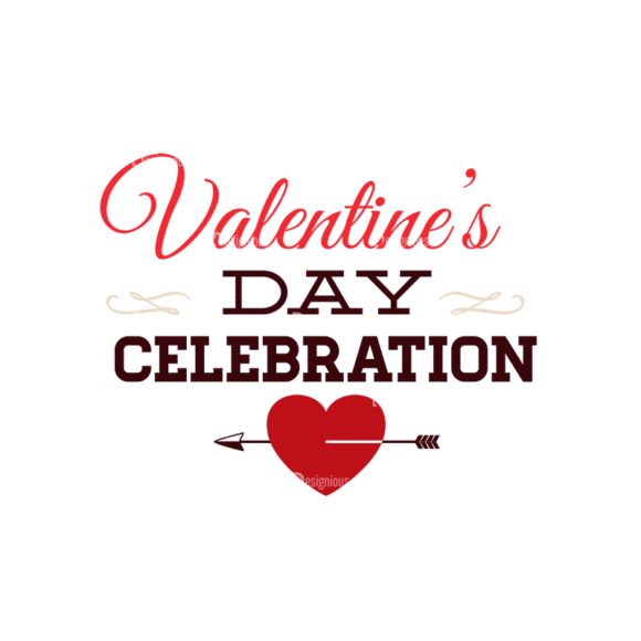 Valentines Day Typographic Elements Vector Valentines 09 Clip Art - SVG & PNG vector