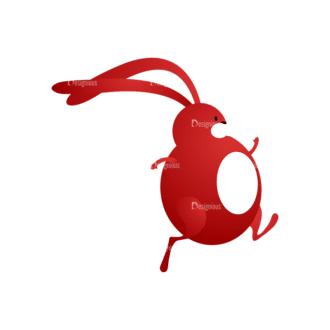 Vector Bunnies And Eggs Vector Bunnies Egg 03 Clip Art - SVG & PNG vector