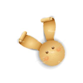 Vector Easter Elements 2 Vector Bunny 08 Clip Art - SVG & PNG vector