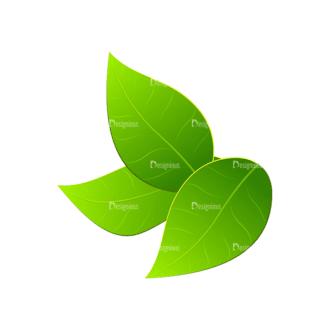 Vector Easter Elements 2 Vector Leaves Clip Art - SVG & PNG vector