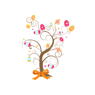Vector Easter Elements 3 Vector Easter Tree 02 Clip Art - SVG & PNG tree