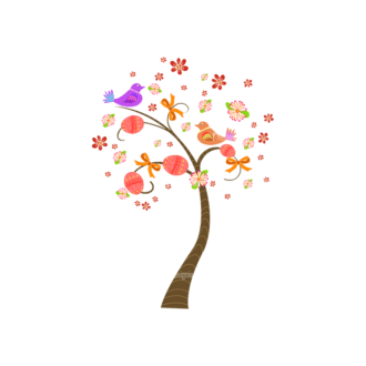 Vector Easter Elements 3 Vector Easter Tree 04 Clip Art - SVG & PNG tree