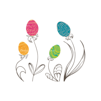 Vector Easter Elements 3 Vector Easter Tree 05 Clip Art - SVG & PNG tree