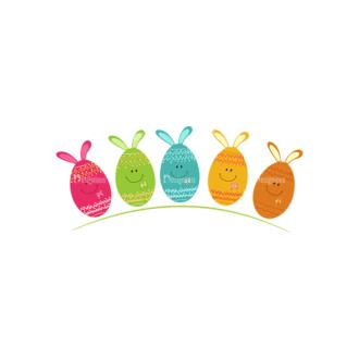 Vector Easter Elements 4 Vector Easter Eggs 03 Clip Art - SVG & PNG vector