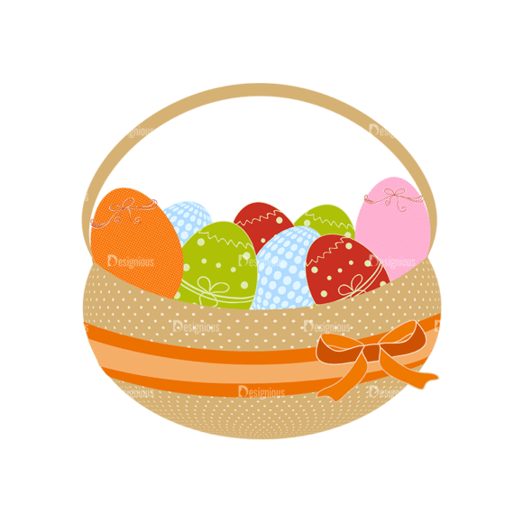 Vector Easter Elements 4 Vector Easter Eggs 15 Clip Art - SVG & PNG vector