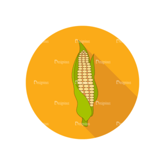 Vector Farming Vector Set 7 Corn Clip Art - SVG & PNG vector