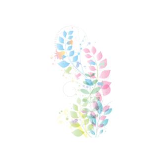 Vector Floral Ornaments 7 Vector Leaves 07 Clip Art - SVG & PNG floral