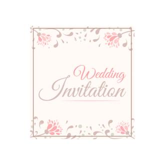 Wedding Invitations Vector Set 2 Vector Invitation 02 Clip Art - SVG & PNG vector