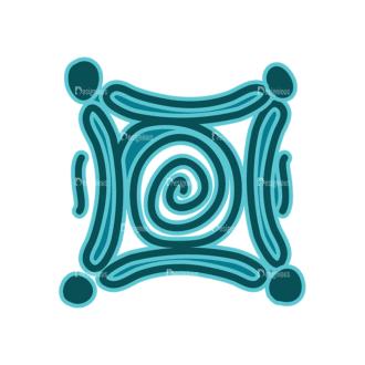 Aztec Elements Sign 01 Clip Art - SVG & PNG vector