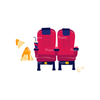 Cinema Cinema Chairs Preview Clip Art - SVG & PNG vector