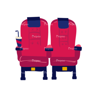 Cinema Cnema Chairs Preview Clip Art - SVG & PNG vector