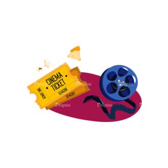Cinema Moovie Time Preview Clip Art - SVG & PNG vector