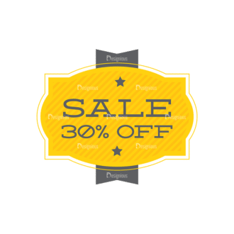 Simple Badges 30% Off Clip Art - SVG & PNG vector