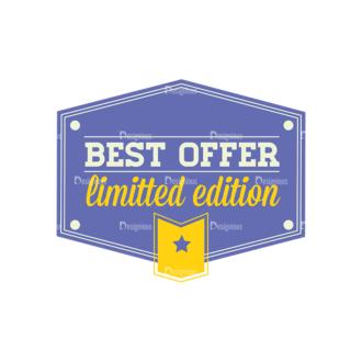 Simple Badges Best Offer Clip Art - SVG & PNG vector