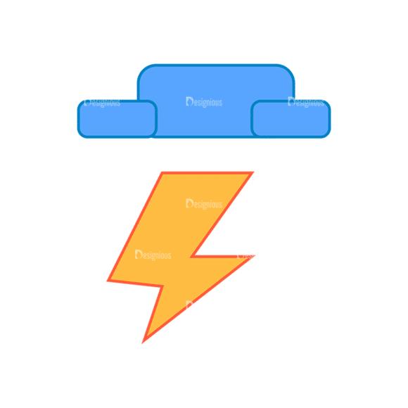 Weather Icon Set Storm Clip Art - SVG & PNG vector