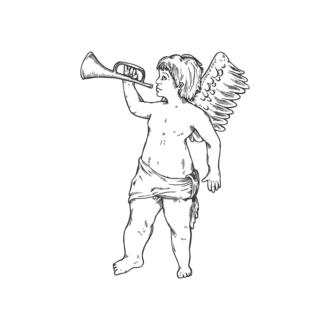 Angels Vector 1 10 Clip Art - SVG & PNG vector