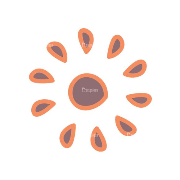 Artist Doodle Vector Set 2 Vector Sun 39 Clip Art - SVG & PNG vector