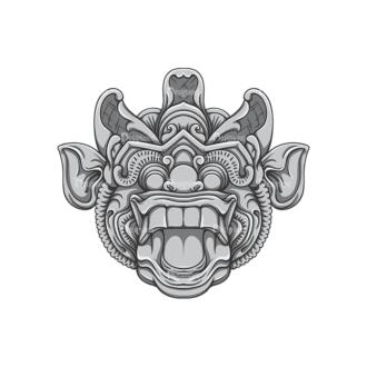 Bali Demons Vector 1 10 Clip Art - SVG & PNG vector