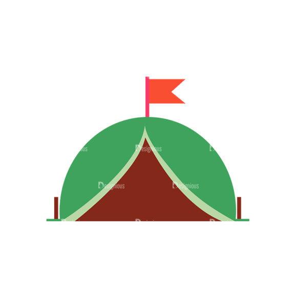 Camping Vector Set 8 Vector Tent 08 Clip Art - SVG & PNG vector