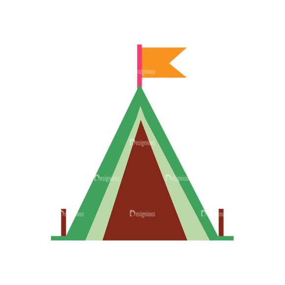 Camping Vector Set 8 Vector Tent 10 Clip Art - SVG & PNG vector