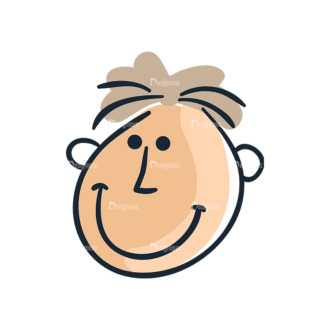 Cartoon Face Expressions Set 4 Vector Face Expression 07 Clip Art - SVG & PNG vector