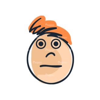 Cartoon Face Expressions Set 4 Vector Face Expression 08 Clip Art - SVG & PNG vector